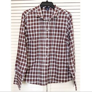 Brooks Brothers Red Green White Plaid Button Down